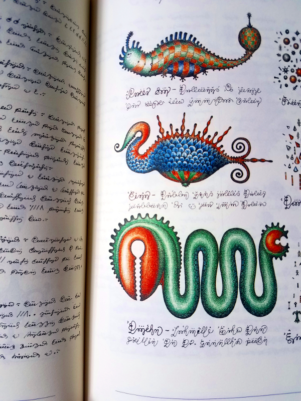 A portion of a page from the Codex Seraphinianus.