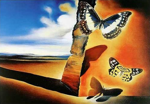 Salvador Dali's Landscape with Butterflies.